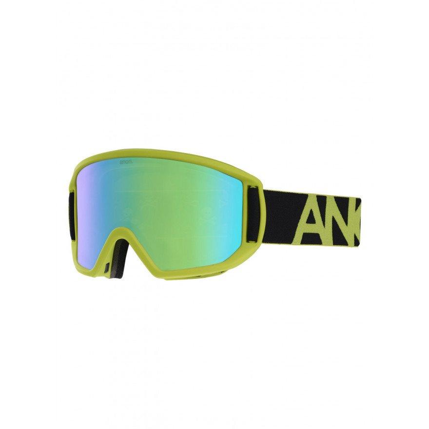 Ochelari de Snowboard Barbati Anon Relapse Mfi - Black Green/Sonar Green