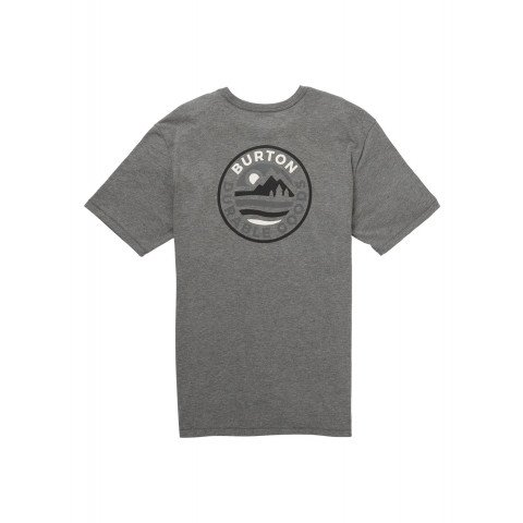 Tricou Barbati Burton Fox Peak Active - Gray Heather