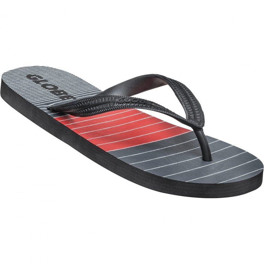Papuci Globe Aggro - Grey/Red/Black