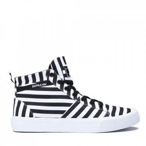 Shoes Supra Stacks Mid - Black/White Stripe
