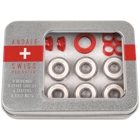 Andale Swiss Tin Box Red