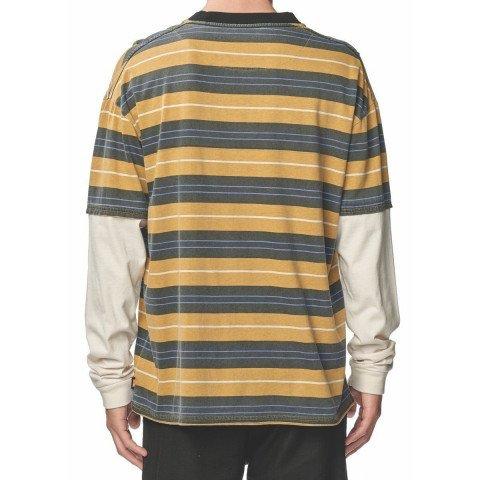 Tricou Barbati Globe Fiesta Stripe - Mustard