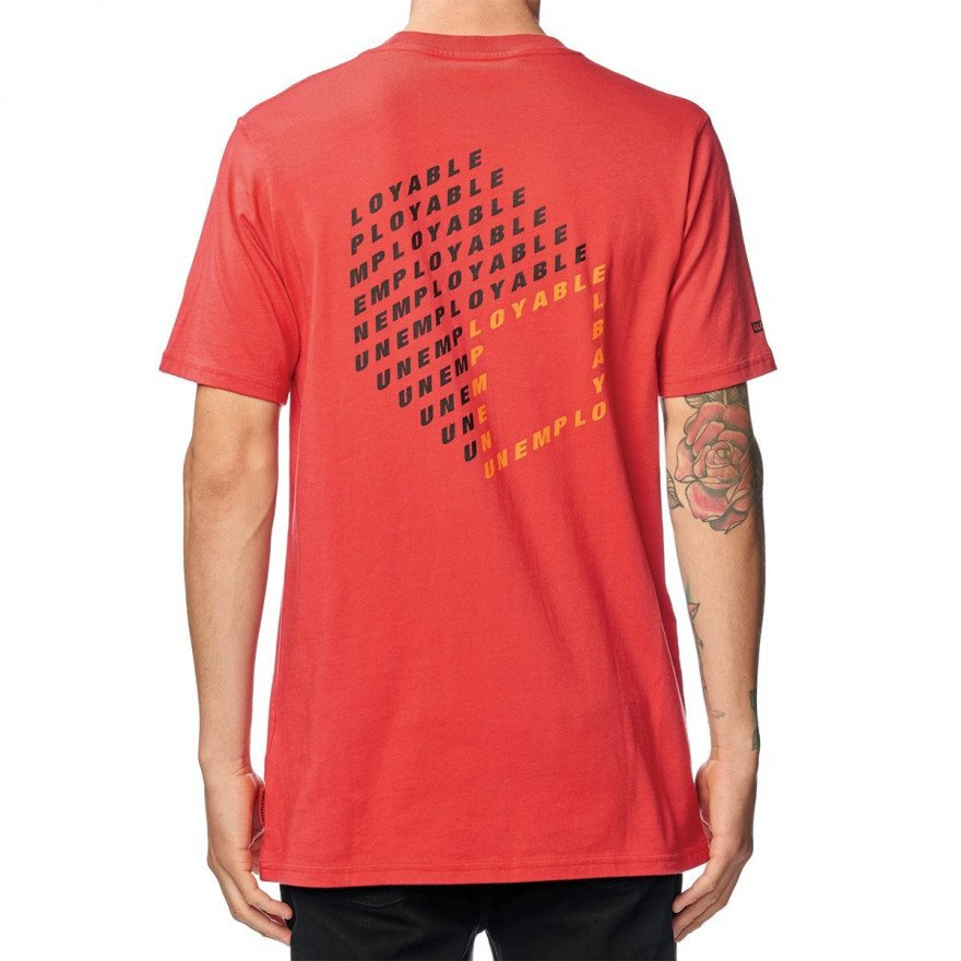 Tricou Barbati Globe Unemployable Cube - Red