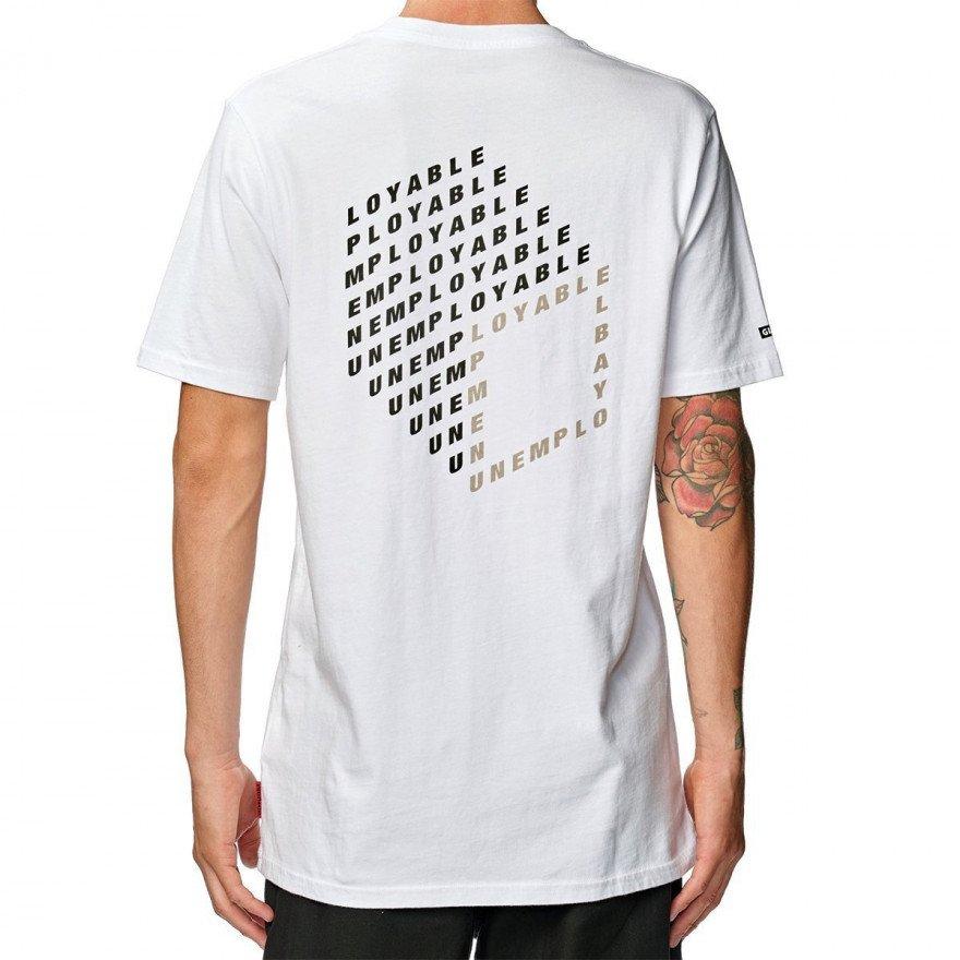 Tricou Barbati Globe Unemployable Cube - White