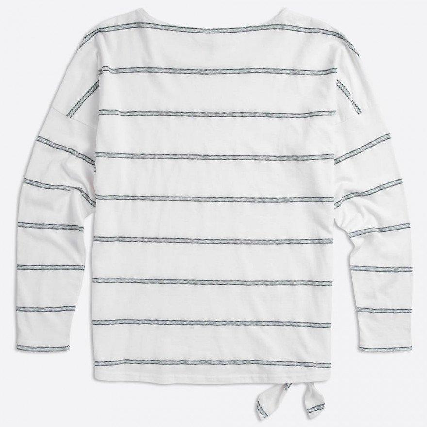 Tricou Dama Animal Street Stripes - White