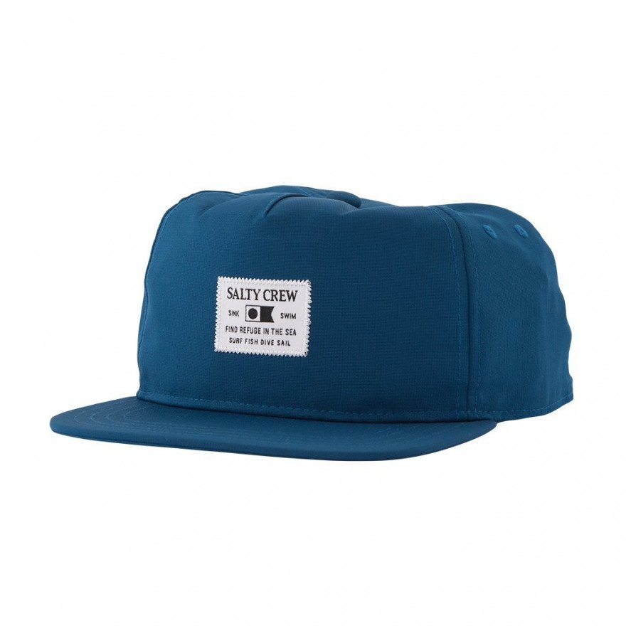 Sapca Salty Crew Essentials Custom Tech 5 Panel - Navy