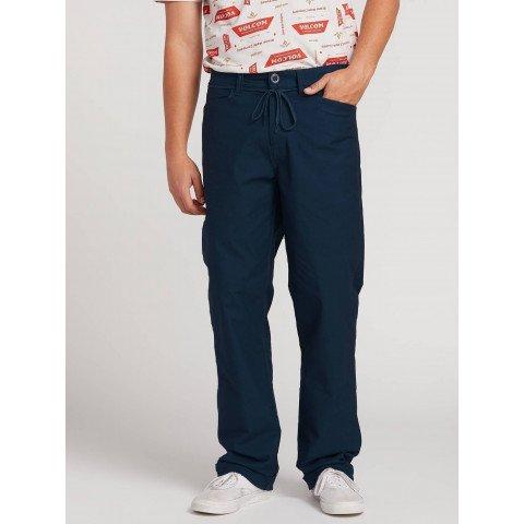 Pantaloni Barbati Volcom VSM Gritter Plus - Indigo