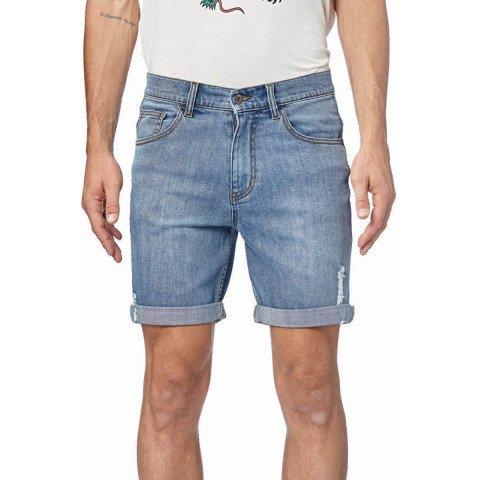 Pantaloni Scurti Barbati Globe Goodstock Denim 2.0 - Trash Blue
