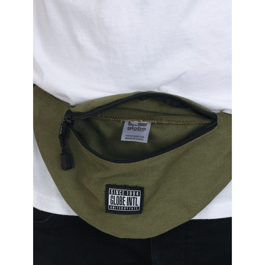 Borseta Globe Richmond Side Bag - Light Army Black Logo